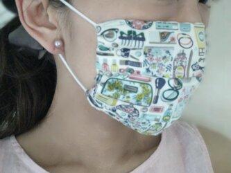 即納*涼しい夏用マスク 大人用 夏マスク リバティ ダブルガーゼ  ガーゼ 日本製 マスク プリーツマスク マスクカバーの画像