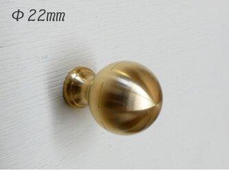 【抗菌作用】Φ22㎜ 真鍮無垢 アンティーク  Crownツマミ / キッチン デスク 引き出し 家具 取っ手 ゴールド 通販の画像