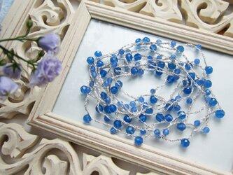 ブルーアゲートのなが~いネックレスの画像