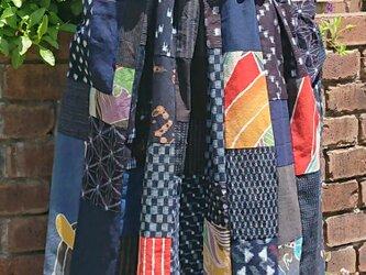 古布絣とのぼりの楽しい切り替えスカート その2  200504-1の画像