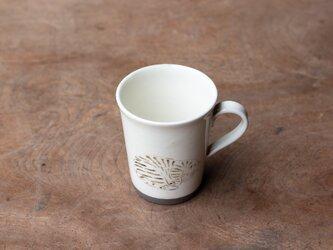 粉引コーヒーカップ(白寝ねこ)の画像