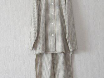 木綿のパジャマ ベージュの画像