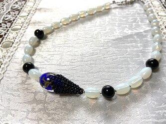 心おだやかに  ~ブルーベネチアンガラスのネックレス~の画像