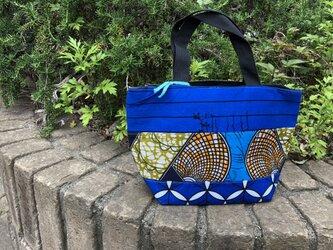 e150-アフリカ布パッチワーク保冷バッグの画像