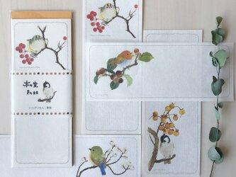 【一筆箋】木の実きのまま-野鳥の画像