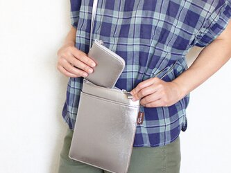 2点セット!超軽量!薄型サコッシュ&小さなお財布 全4色 国内送料無料(受注生産)の画像