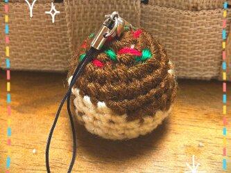 ♪おうち時間を楽しく♪たこ焼きの編みぐるみストラップ①の画像