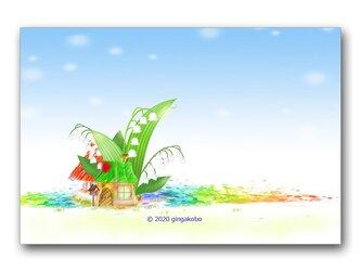「すず・らんらん~♪」 ほっこり癒しのイラストポストカード2枚組 No.1065の画像