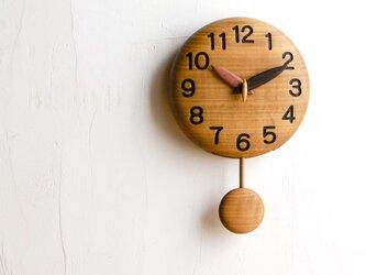 ~手作り木製振り子時計~(18cm)の画像