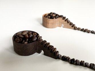 コーヒー豆の為のメジャースプーン 階段 豆摺り切り7gの画像