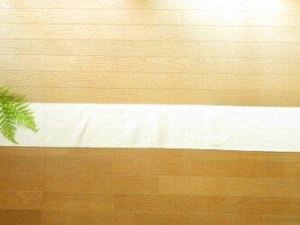 7)真っ白の麻(ラミー)の手織りテーブルランナーの画像