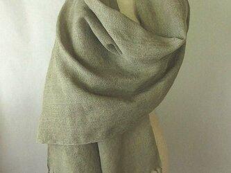 2)手織りシルクストール 桜染め グレーの画像