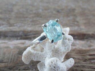 Rough Apatite Ring ラフロックアパタイト原石のシルバーリング/sv925の画像