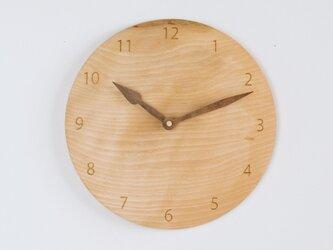 木製 掛け時計 丸 カバ材6の画像
