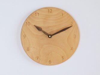 木製 掛け時計 丸 カバ材8の画像