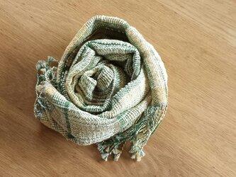 【手織り】木綿のストール#16の画像