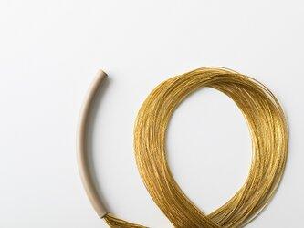絲tabane黒漆セミロングネックレス の画像