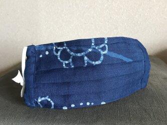 藍染 リバーシブルマスクの画像