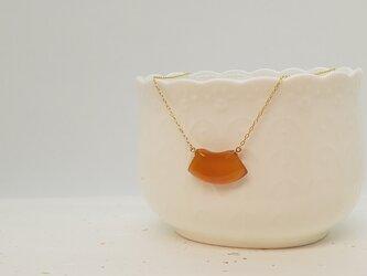 本べっ甲 オレンジ甲ネックレスの画像