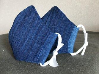 藍染 リバーシブルマスク 子供用の画像