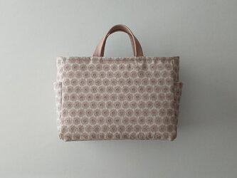 flower linen tote (italian fabric)の画像
