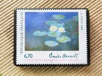 フランス 美術切手ブローチ6169の画像