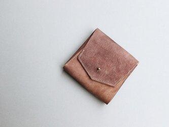 スクエア財布 BROWN (山羊革ヌバック)の画像