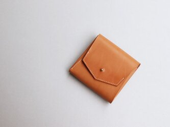 スクエア財布 LIGHT BROWN (牛ヌメ革)の画像