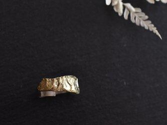 """真鍮シルバーの指輪 """"無垢 Muku""""の画像"""