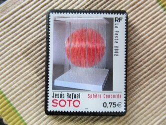 フランス 美術切手ブローチ6173の画像