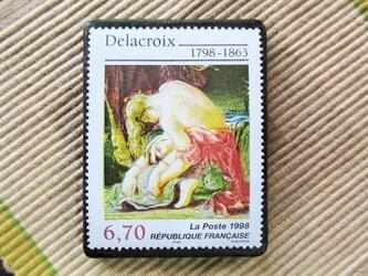 フランス 美術切手ブローチ6175の画像