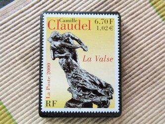 フランス 美術切手ブローチ6178の画像