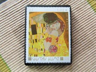 フランス 美術切手ブローチ6179の画像