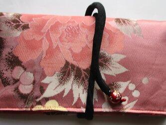 4865 花柄のお蒲団側で作った和風財布・ポーチ #送料無料の画像