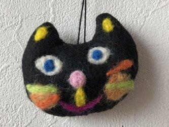 黒猫ストラップ③の画像