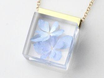 紫陽花のネックレス14kgf(無料ギフトラッピング, メッセージカード, 誕生日プレゼント, 送料無料)の画像