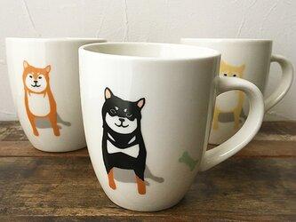 柴犬 ラウンドマグ S 赤柴 黒柴 白柴 3色 ★ 200ml コーヒー 紅茶 ココアの画像