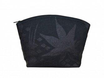 和紙×江戸小紋ポーチ(オリジナル小紋)の画像