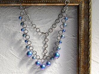 ブルーパールのネックレスの画像