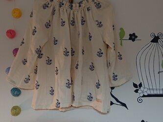 私の定番 プルオーバー ダブルガーゼ 刺繍インド綿の画像