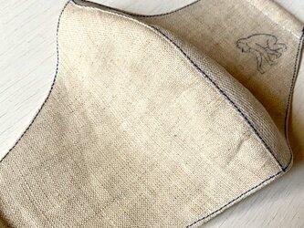 mask /ヴィンテージリネンの布マスク ■tf-359bの画像