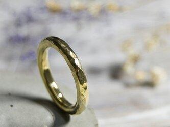 でこぼこ ブラスラウンドプレーンリング 3.0mm幅 鎚目 真鍮 BRASS RING 指輪 シンプル アクセサリー 159の画像