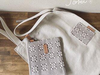 手織りエコポーチ グレーNO1の画像