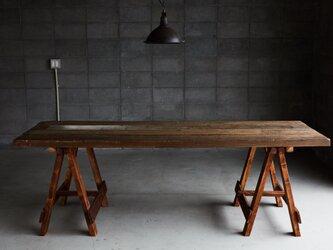 [造船古材] ロングテーブル(折り畳み式):Vintage Collapsible Table【受注生産】の画像