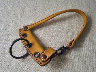 鍵束キーホルダー 栃木レザー の画像