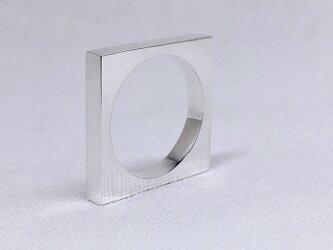 スクエア(四角形)のシルバーリングの画像