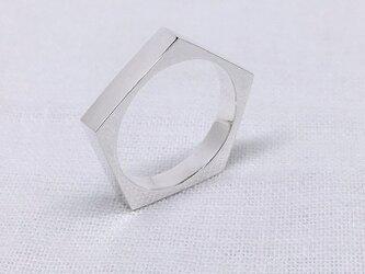 ペンタゴン(五角形)のシルバーリングの画像
