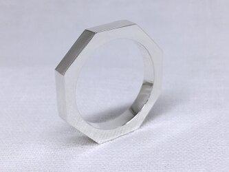 オクタゴン(八角形)のシルバーリングの画像