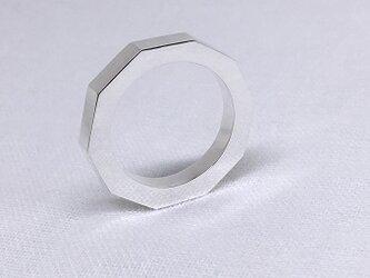 デカゴン(十角形)のシルバーリングの画像
