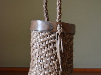 Leather Basket Bag 【Small】の画像